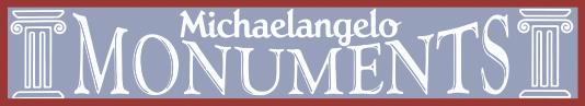 Michaelangelo Monuments Logo